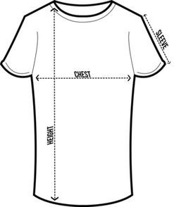 ladies round neck size chart