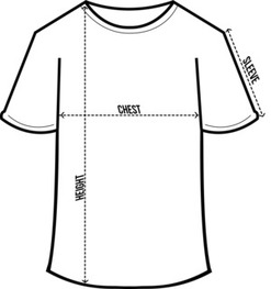mens round neck size chart