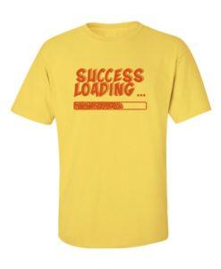 success loading t-shirt - yellow