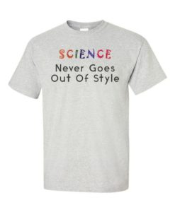 Science Style Mens T-Shirt Gray