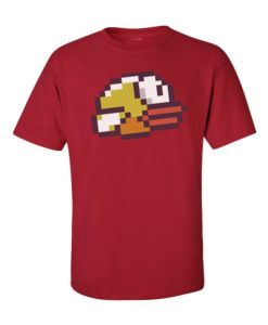 Flappy Bird Mens T-Shirt Cherry Red
