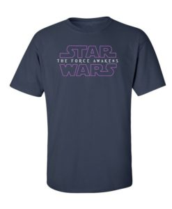 Star Wars Force Awakens Mens T-Shirt Navy Blue