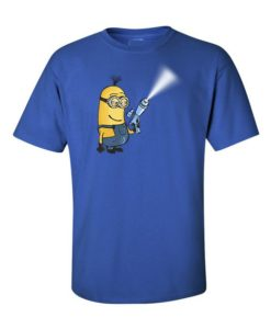 Minion Gun T-Shirt Royal Blue