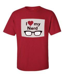 I love my Nerd T-Shirt Cherry Red