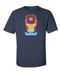Iron Man Armour Up T-Shirt Navy Blue