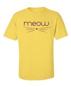 Meow T-Shirt Yellow