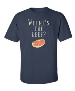 Where's the Beef T-Shirt Navy Blue