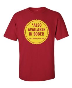 Funny Sober Cherry Red