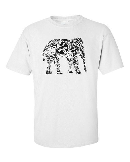 elephant art white
