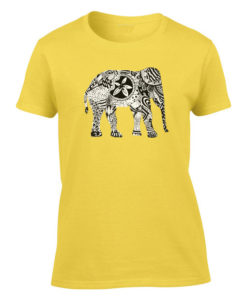 elephant art yellow