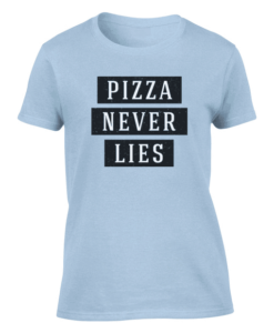 pizza lies light blue