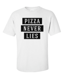 pizza lies white