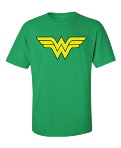 wonder woman symbol green