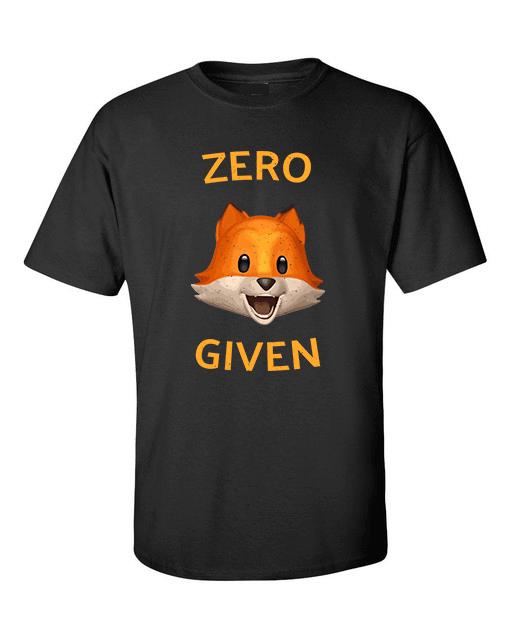 zero fox black