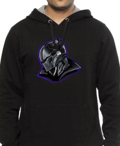 face mask black hoodie