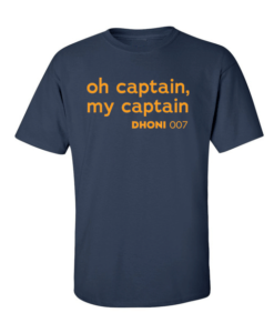 oh captain dhoni navy blue