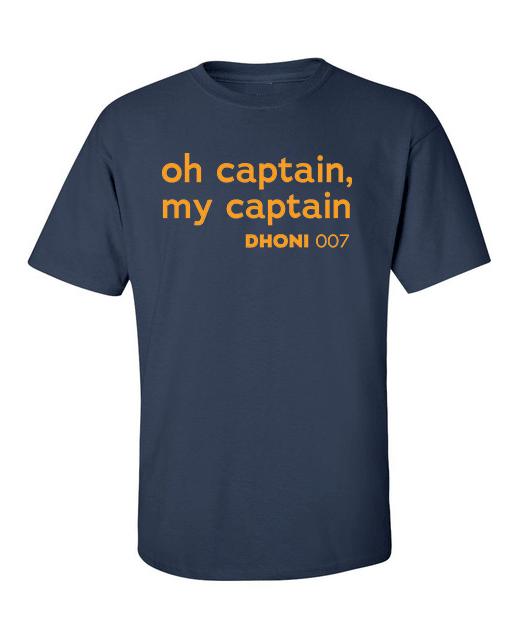 oh captain dhoni navy blue
