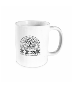 iim ahmendabad white mug